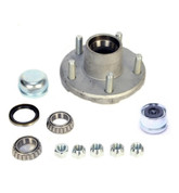 "Redline Galvanized 5 on 4.5"" Hub Kit 1-1/16"" Spindle 2K Axles GVH34822545BX-116"