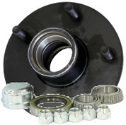 "AxleTech 5 on 4-1/2"" Zerk Lube Hub Kit Bearings, Seal, Cap and Nuts #H84545UC1-ZL"