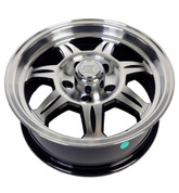 "Allied Wheel 15"" X 6"" - 5 on 4-1/2"" Aluminum Spoke w/Black Detail Trailer Wheel #WH156-5ASB"