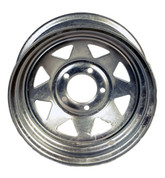"Dexstar 14"" X 6"" - 5 on 4-1/2"" Galvanized Spoke Wheel for 1/2"" Studs and 3.3 Pilot #WH146-5GVS"