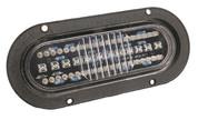 """Kaper II 6"""" Oval Flange Mount, 52 Diode LED, Clear Lens/Amber Front Turn Lamp #L15-0036"""
