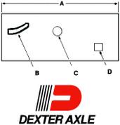 "2-1/2"" Wide 10K GD Left Hand 42-1/4"" Axle Spacing Slipper Spring Equalizer #13-134-2"