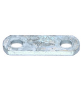 """2-1/4"""" Long, 1-1/4"""" Wide, 9/16"""" Hole Galvanized Shackle Strap #18-11GALV"""