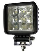 """Kaper II 4.6"""" Square Pedestal Mount 2025 Lumen, 9 Diode LED Work Light #L16-0083"""