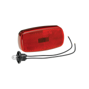 Bargman Clearance Light #59 Red With Reflex W/Black Base #30-59-003