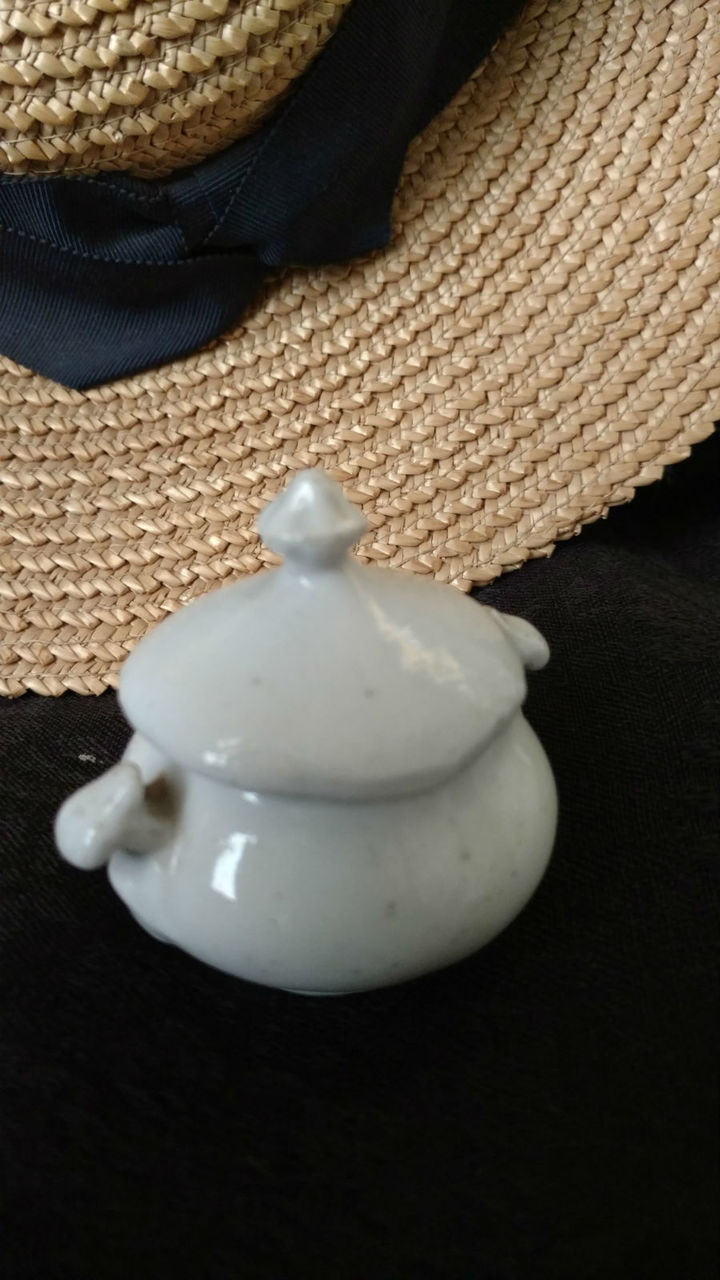 3 Piece Toy Ironstone White Creamer Sugar Teapot  Victorian Play Set