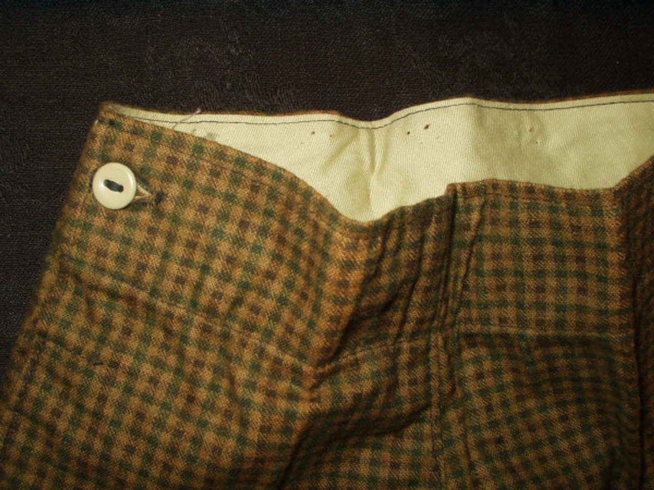 Vintage Children's Boy 1900 to 1920  Marx Haas Plaid Knickers In Box
