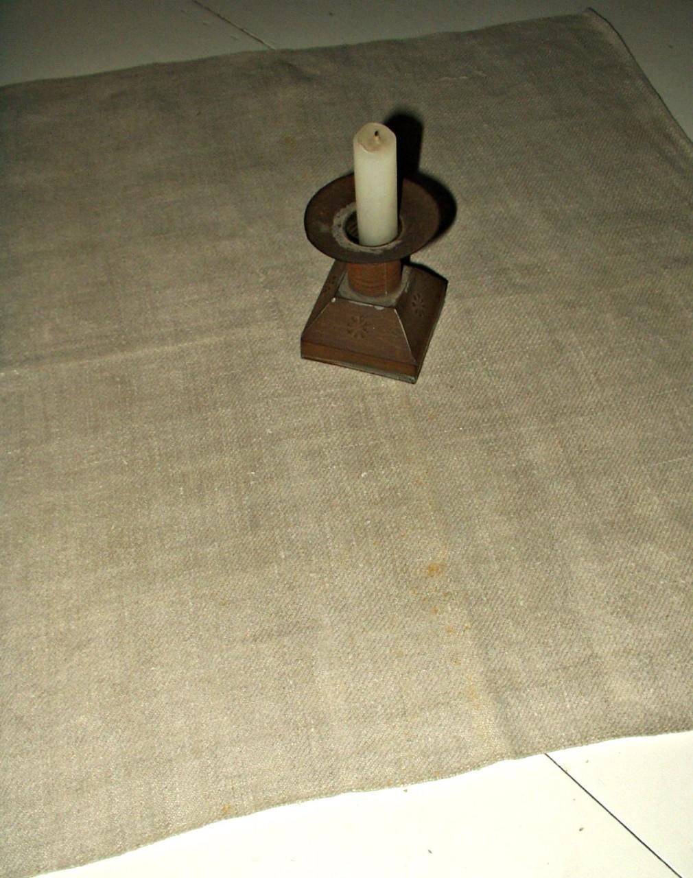 19th Century Country Primitive Hand Woven Homespun Table Mat Napkin