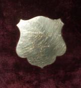 19th Century Victorian Engraved Plush Velvet Sewing Box Thread Tray