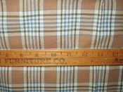 1920s Brown Blue Stripe Homepun Fabric Remnant Piece