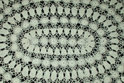 Vintage 1920 Hand Made Irish Crochet Oval Table Dresser Doily