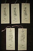 Edwardian Tally Bridge Game Cards Vintage 5 Lovely Lady Unused Ephemera