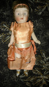 Vintage Nippon Doll Teens 1920s Movable Arms Legs Gold Shoes Upswept Hair
