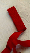 Vintage 1930 1950 Ribbon Rayon Moire Christmas Red Unused 3 Yards