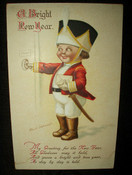 Antique Early 1900 Ellen Clapsaddle New Year Postcard