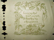 Antique Victorian 1880 Paper Lace Pop Up Valentine Greeting Card