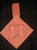 1920 Vintage Embroidery Kitchen  Hot Pad Pot Holder Pocket