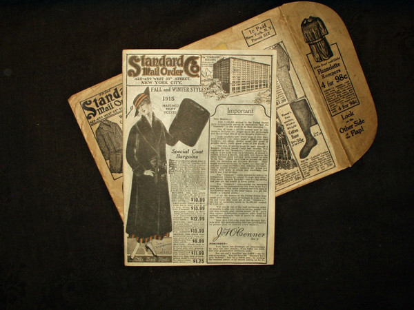 Fall Winter 1915 Standard Co Adult Children Clothing Fashion Catalog