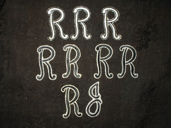 9 Vintage 1940s Iron On Monogram Initials Letters