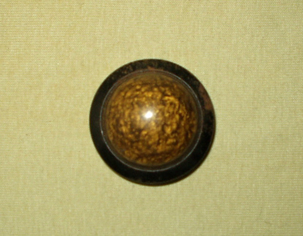 Vintage Edwardian 1920 Dome Shape Celluloid Metal Coat Button