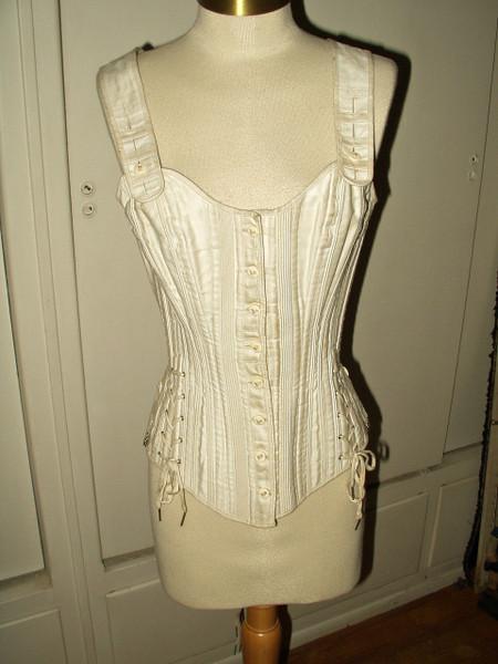 1890's Victorian  Bone Youth Corset Shoulder Straps Ferris Bros.