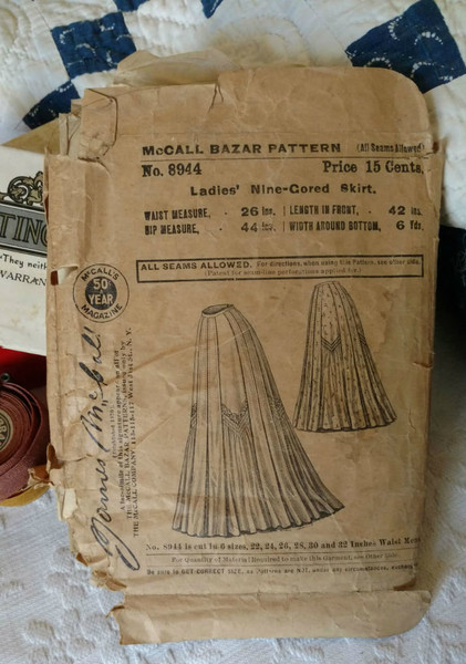 8944 Victorian Original McCall Skirt Pattern Gored Skirt 1890s