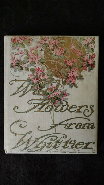 Edwardian Poem Book Wild Flowers From Whittier 1909 Color Plate Illustration