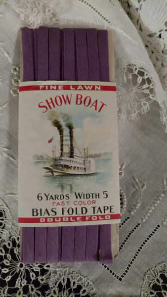 Vintage 1920s Show Boat Bias Tape Sewing Notion Advertising Graphics