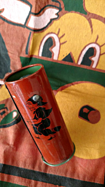 1950s Vintage Tin Halloween Noisemaker Japan Witch Devil