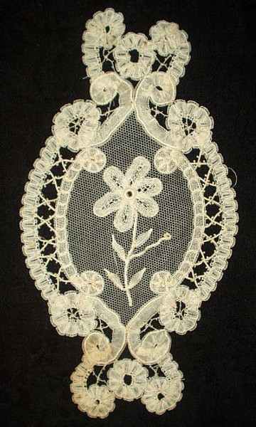 Old Victorian 1900 Battenburg Lace Dress Embellishment Trim