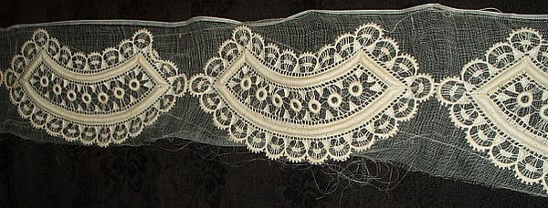Antique Vintage 1920s Lace Appliques Embellishment Dress Trim