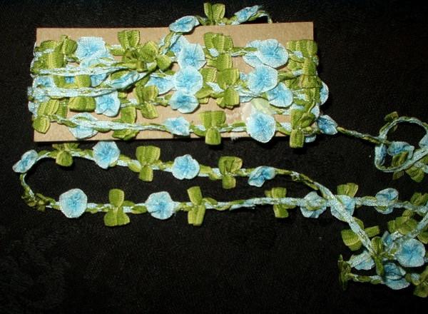1920 Antique Silk Rayon Ribbon Rosette Dress Trim Yardage Crafts DIY Sewing