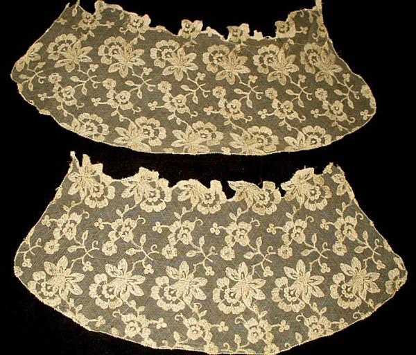 Antique Vintage Edwardian Machine Net Lace Cuff Dress Embellishment