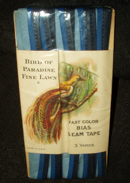 Vintage Bird Of Paradise Fine Lawn Bias Seam Tape Trim