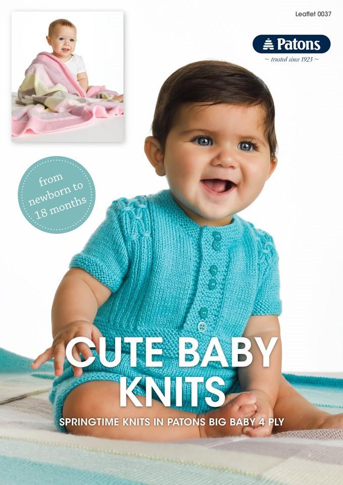Cute Baby Knits Patons Knitting Pattern 0037
