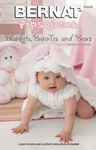 Blankets, Bunnies and Bears - Bernat Knitting Pattern (530209) Cover
