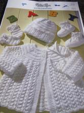 PETER PAN MATINEE SET - Knitting Pattern (P956)