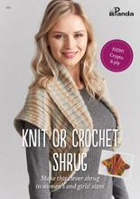Knit or Crochet Shrug - Panda Knitting Pattern (front)