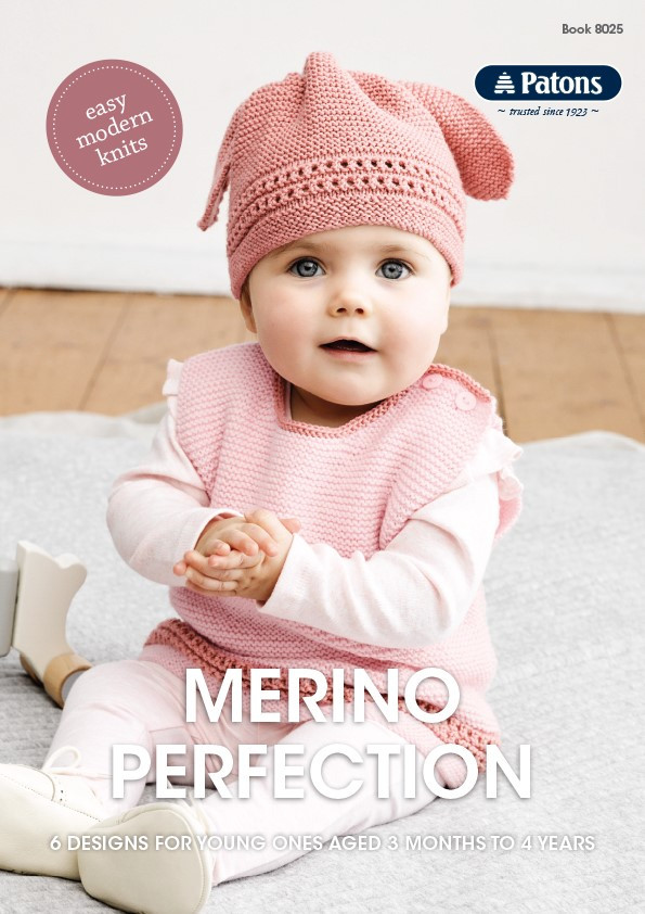 Merino Perfection Patons Knitting Pattern 8025