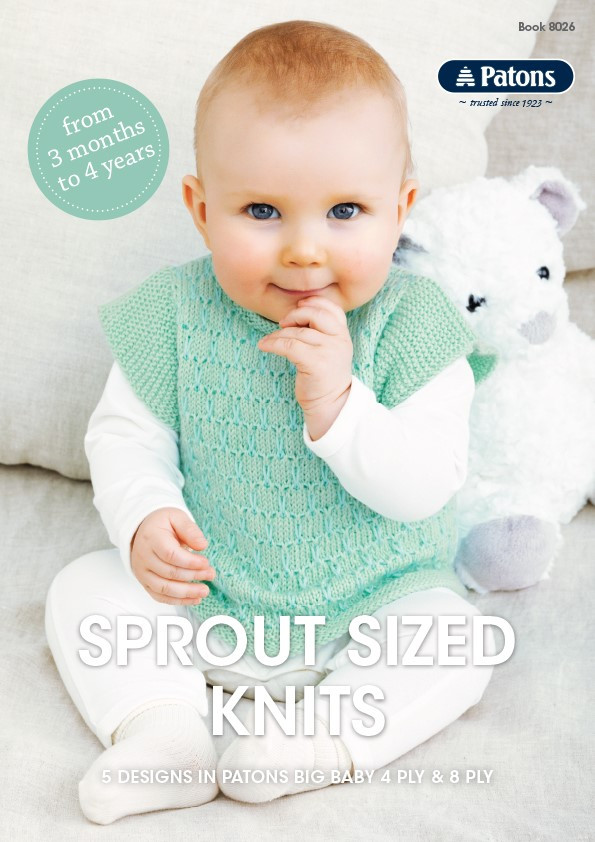 Sprout Sized Knits Patons Knitting Pattern 8026