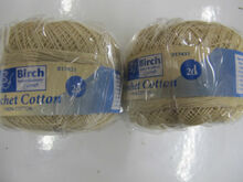 Birch Crochet Cotton Yarn - Ecru