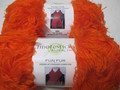 Fiddlesticks Fun Fur Yarn - Orange