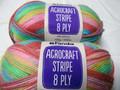 Panda Acrocraft Stripe Yarn - (1022)