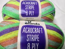 Panda Acrocraft Stripe Yarn - (1021)