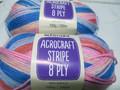 Panda Acrocraft Stripe Yarn - (1020)
