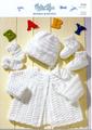 Peter Pan Knitting Pattern - Kids Sweater & Hat (P956)