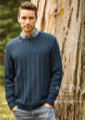 Cleckheaton Superfine Merino Knitting Pattern - Mens Textured Jumper (462)