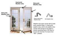 Swing door weather strip kit October 1991 to present