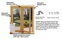 Single swing door weather strip kit pre october 1991