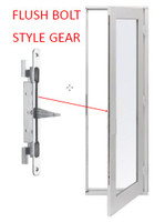 Hoppe: flushbolt only for IN-ACTIVE door
